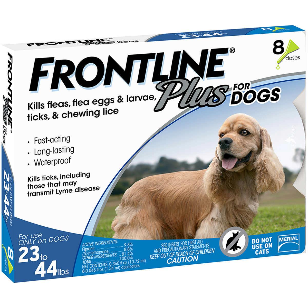 Frontline Plus Dog 23 44 Lb 8 Single Doses