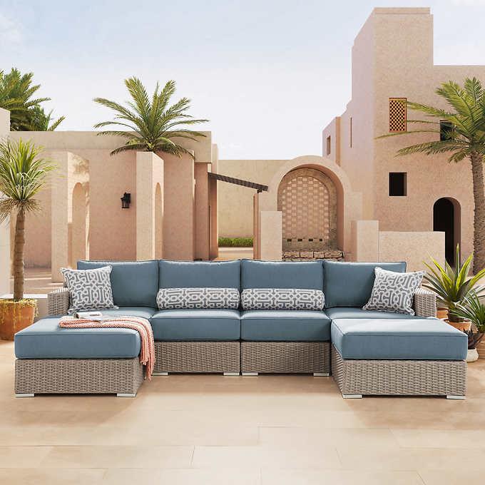 Sirio Niko 6 Piece Modular Seating Set, Sirio Patio Furniture