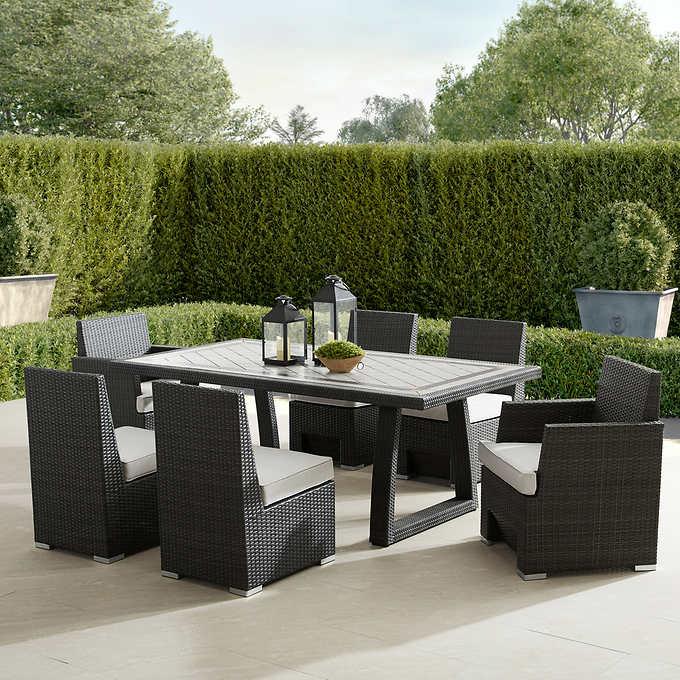 niko 7 piece patio dining set