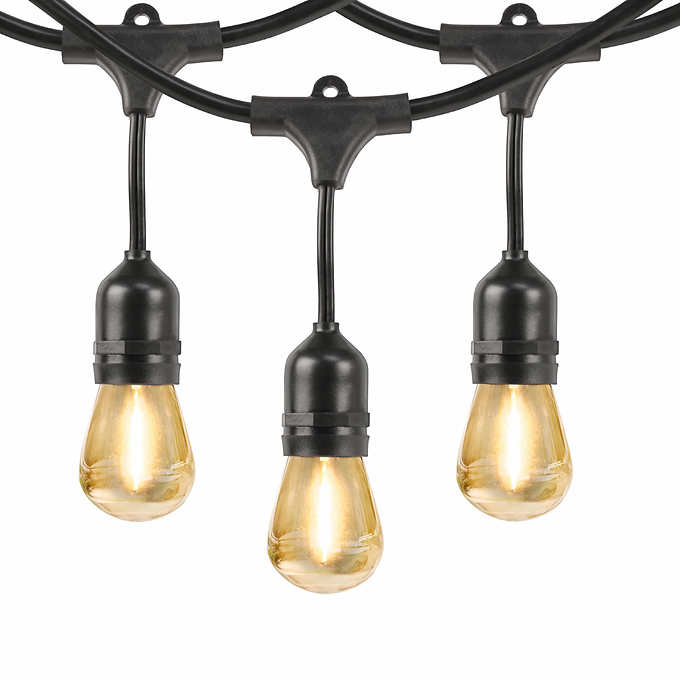 Feit Electric 48 Led Filament String, Solar Outdoor Patio Deck Lights 48 Led