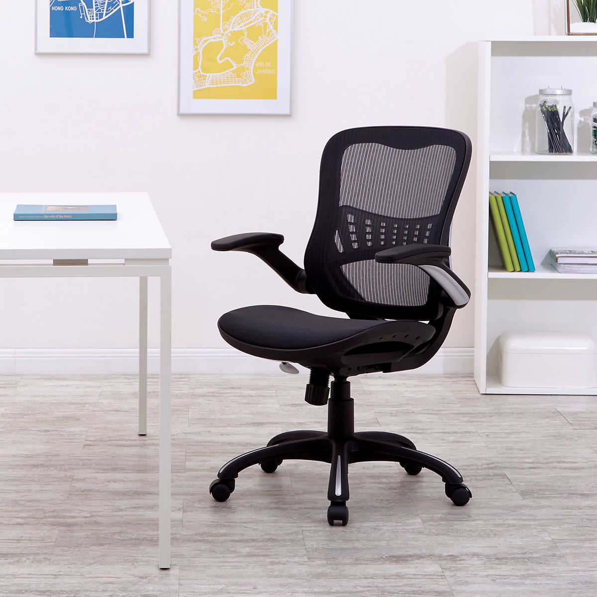 Office Star WorkSmart Breathable Mesh Seat and Back Managers Chair