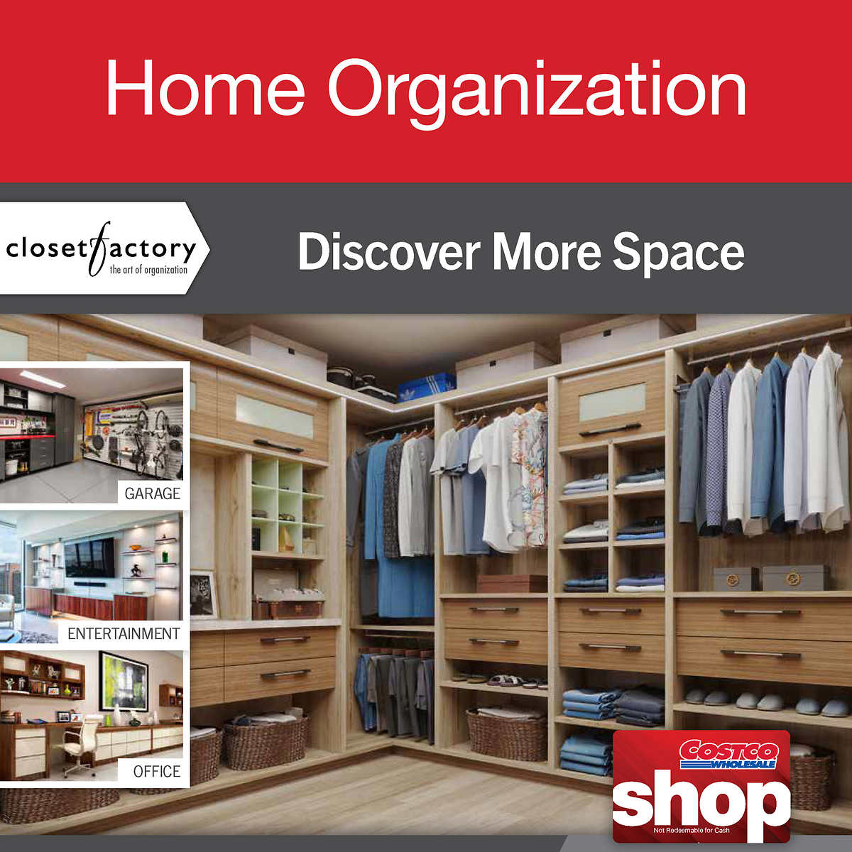 Custom My Design Assistant closet factory custom home organization