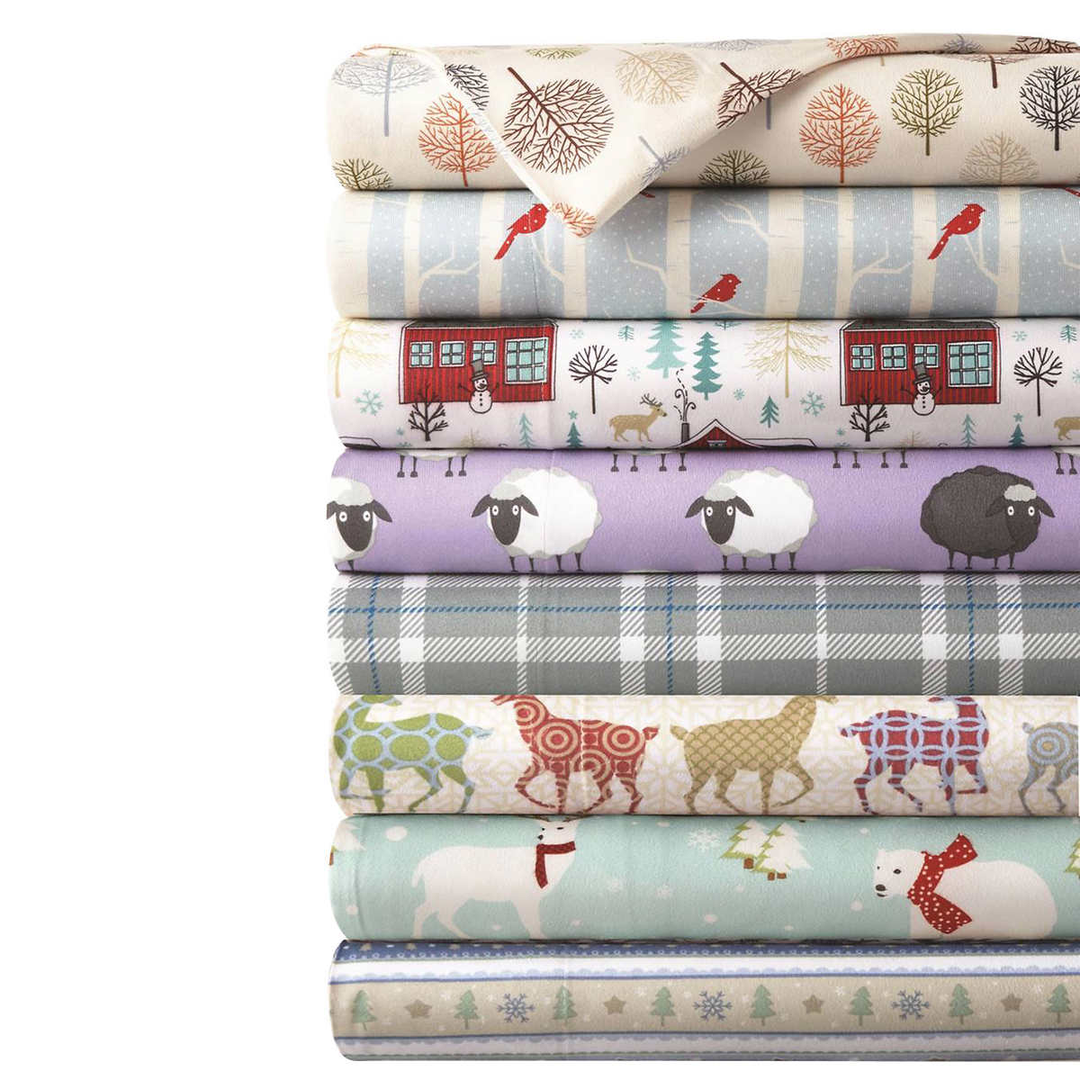 Micro Flannel Printed 4 Piece Sheet Set