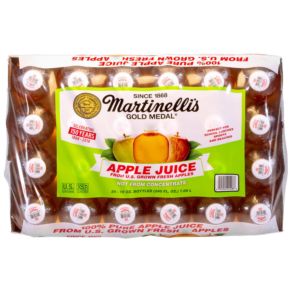 Martinelli S Gold Medal 100 Pure Apple Juice 10 Fl Oz 24 Count