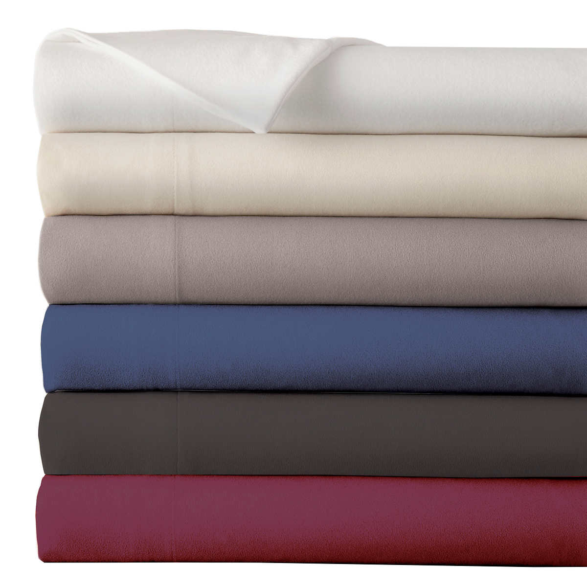 Micro Flannel Solid 4 Piece Sheet Set