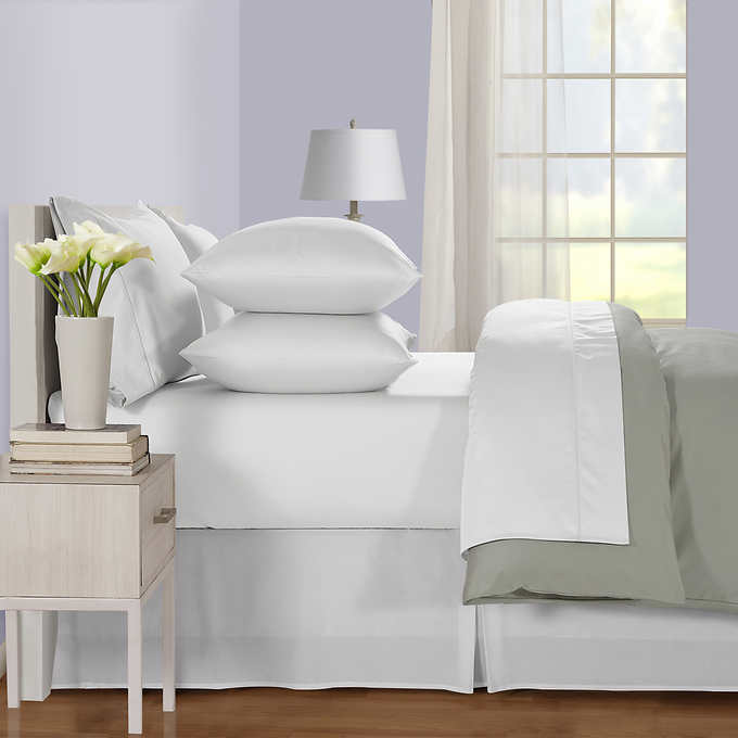 """Top Bedding collection Ivory Stripe Cotton 800-TC 15/"""" Drop All Size Available"""