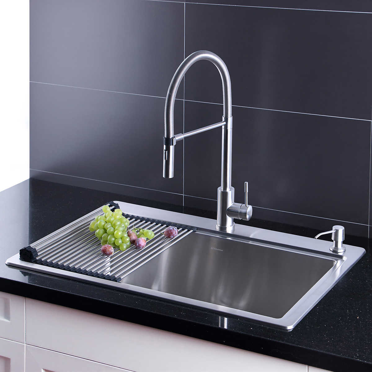 AFA Stainless 12-inch Sink and Semi Pro Faucet Combo