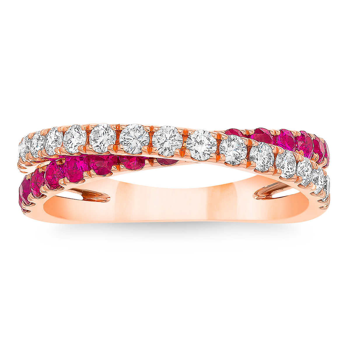 Ruby And Diamond 14kt Rose Gold Ring