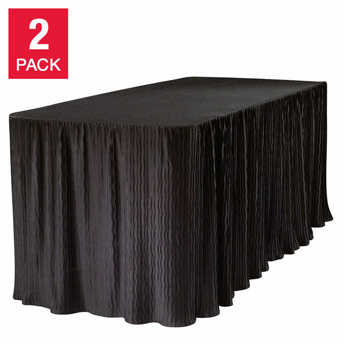 Rectangular Table Cloth 2 Pack Costco, What Size Tablecloth For A 30 X 72 Table