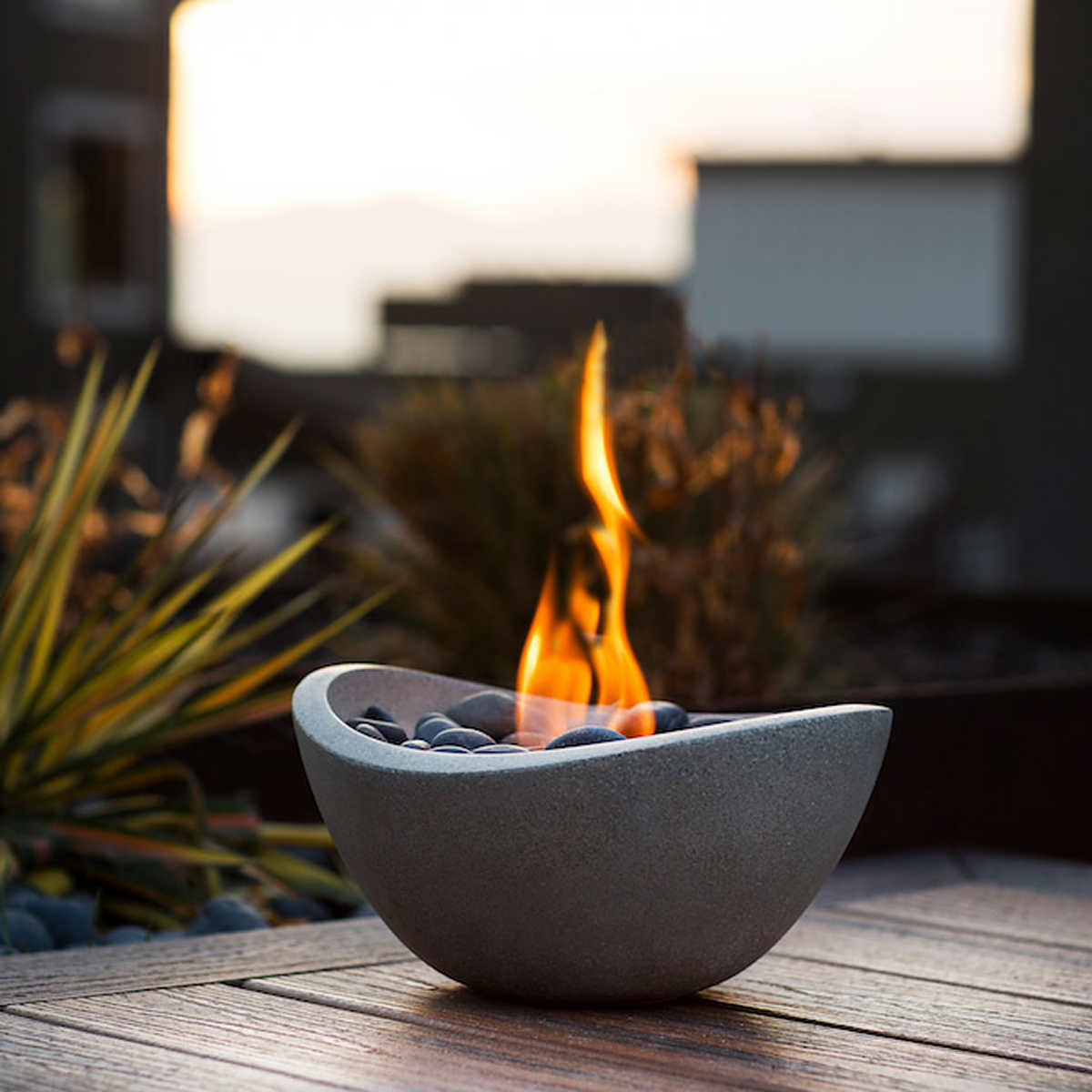 Table Top Fire Bowl With 3 Pack Gel Fuel