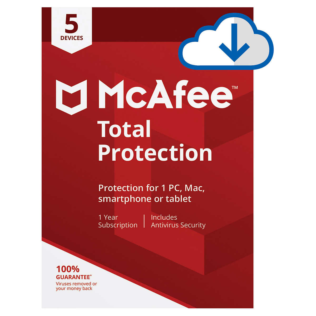 Mcafee Total Protection 5 Devices 1 Year Subscription E Delivery