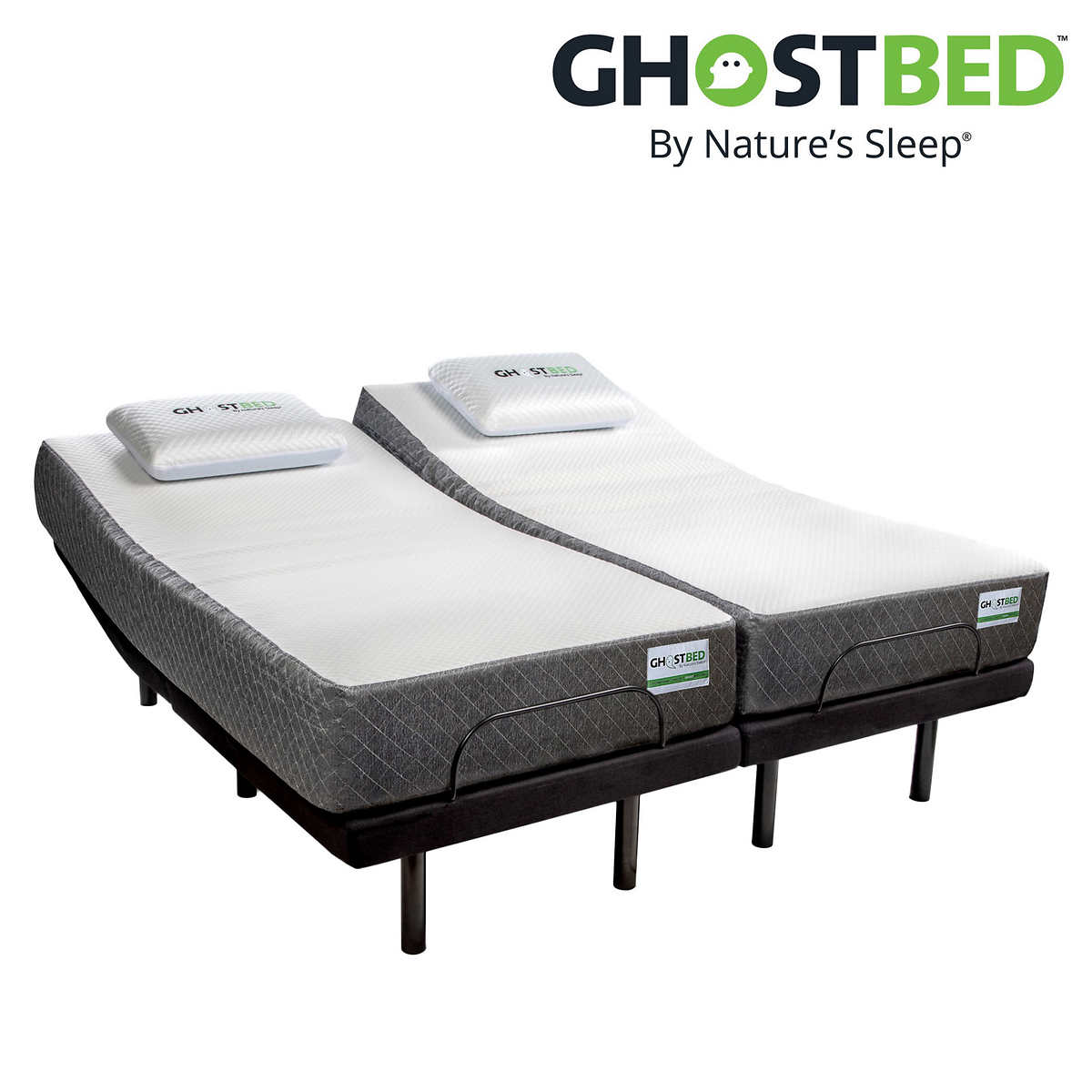 Ghostbed 11 Memory Foam Mattress With Adjustable Base