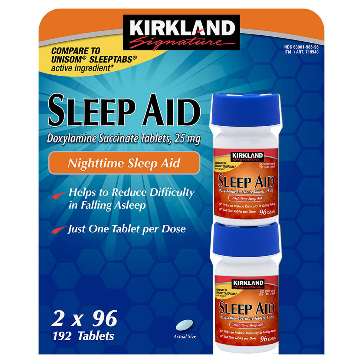 Kirkland Signature Sleep Aid 192 Tablets