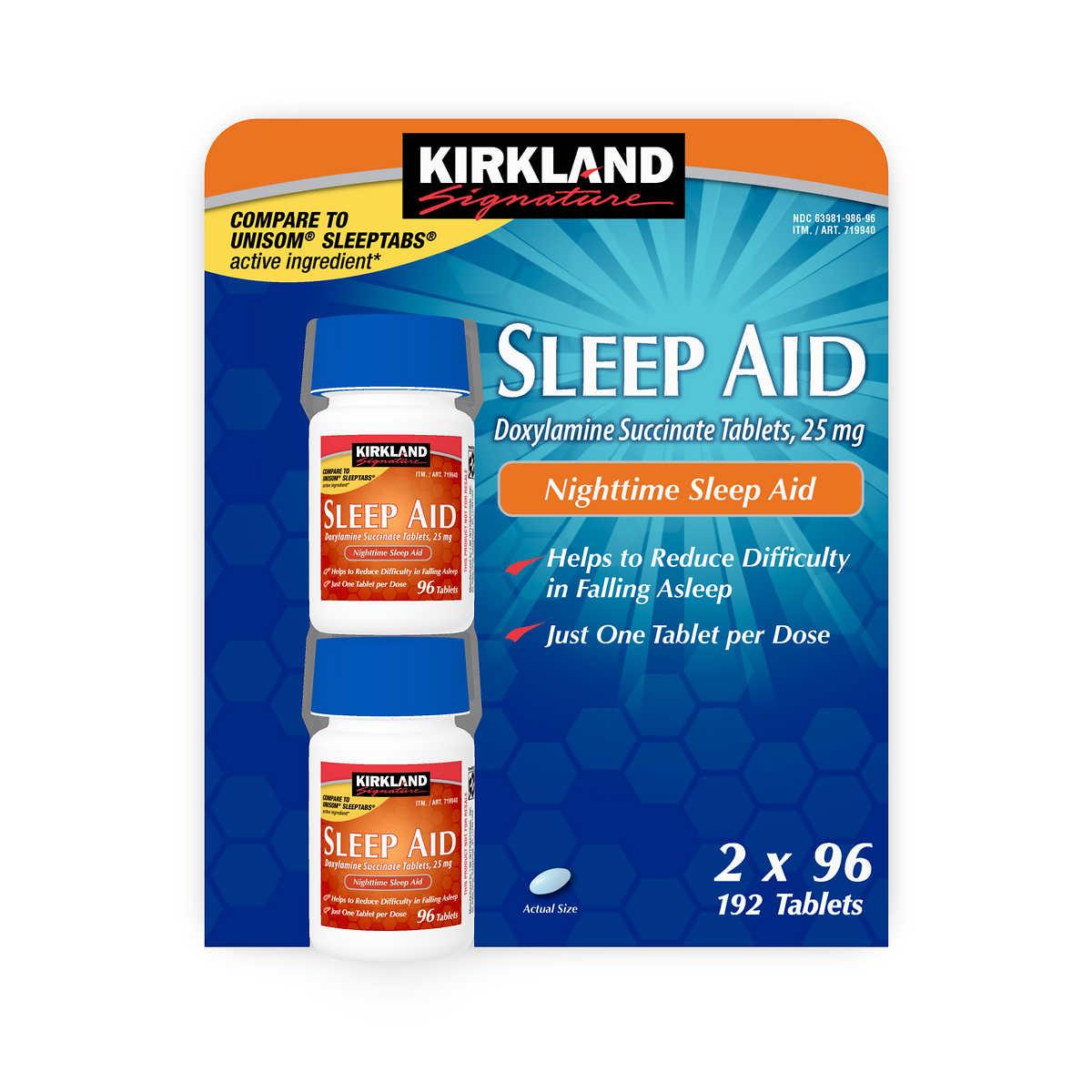 Kirkland Signature Sleep Aid 192 Tablets