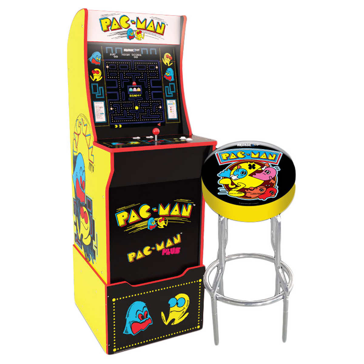 Arcade1up Mini Pac Man Arcade Cabinet With Riser Stool And