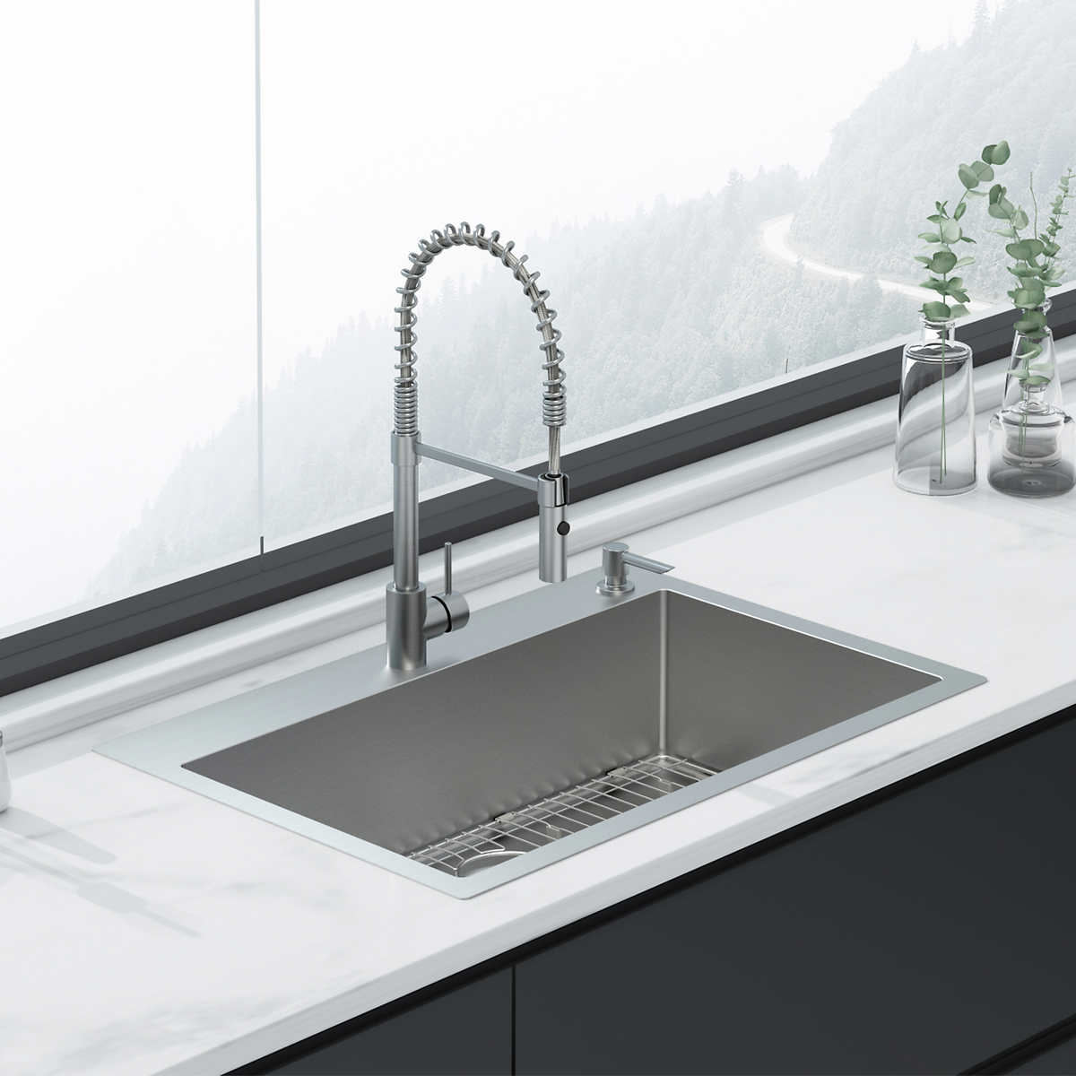 American Standard Culver Welded Kitchen Sink And Semi Pro Faucet Package