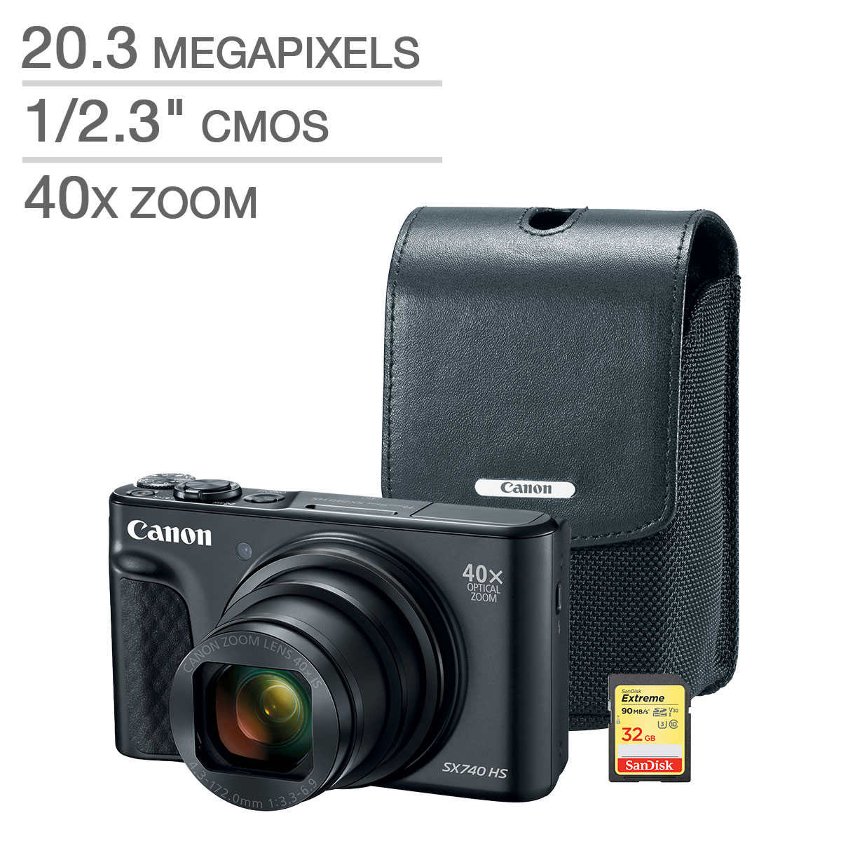 Canon Powershot Sx740 Digital Camera Bundle