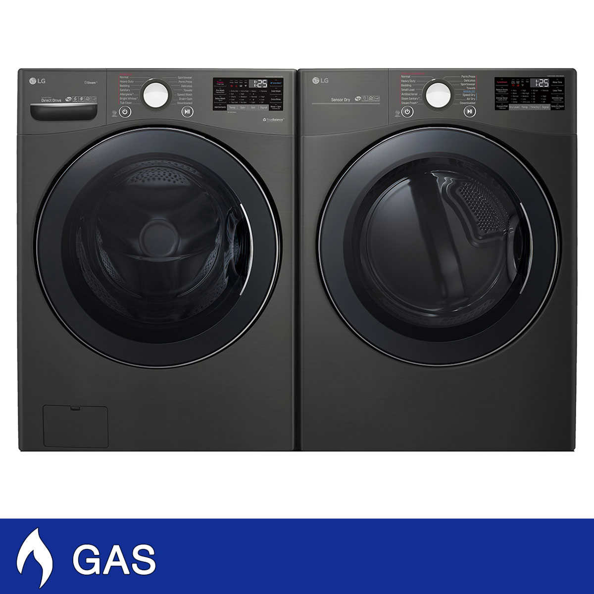 Lg Wifi Enabled 4 5cuft Front Load Washer And 7 4cuft Gas Dryer With Optional Pedestals