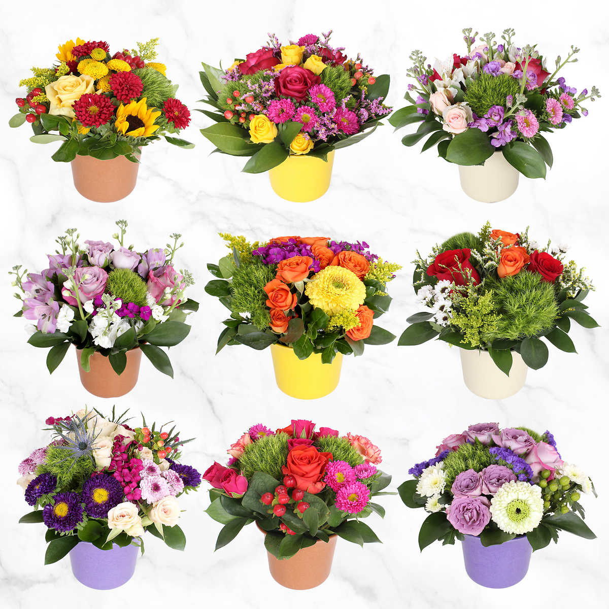 Mini Floral Centerpieces 9 Count