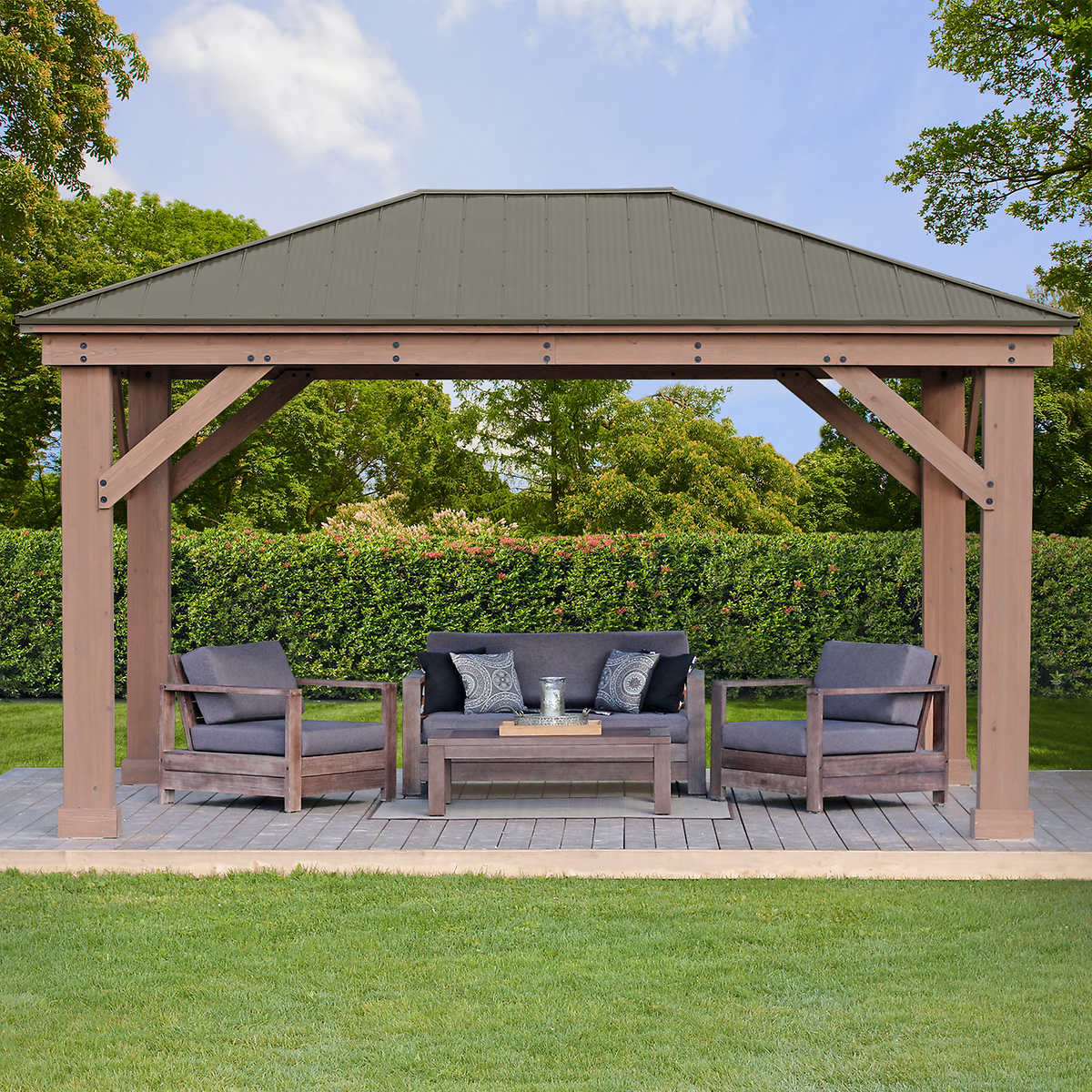 Perfect for Hot Tubs 12/' x 12 Square Gazebo with open sides Building Plans
