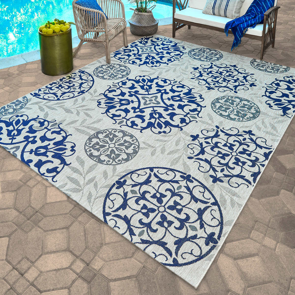 Naples Indoor Outdoor Rug Collection Emporia Leaves