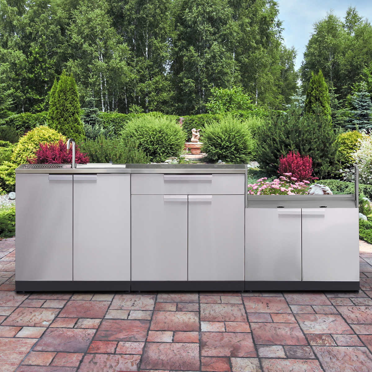 Newage Products Classic Stainless Steel 4 Piece Outdoor Kitchen Costco