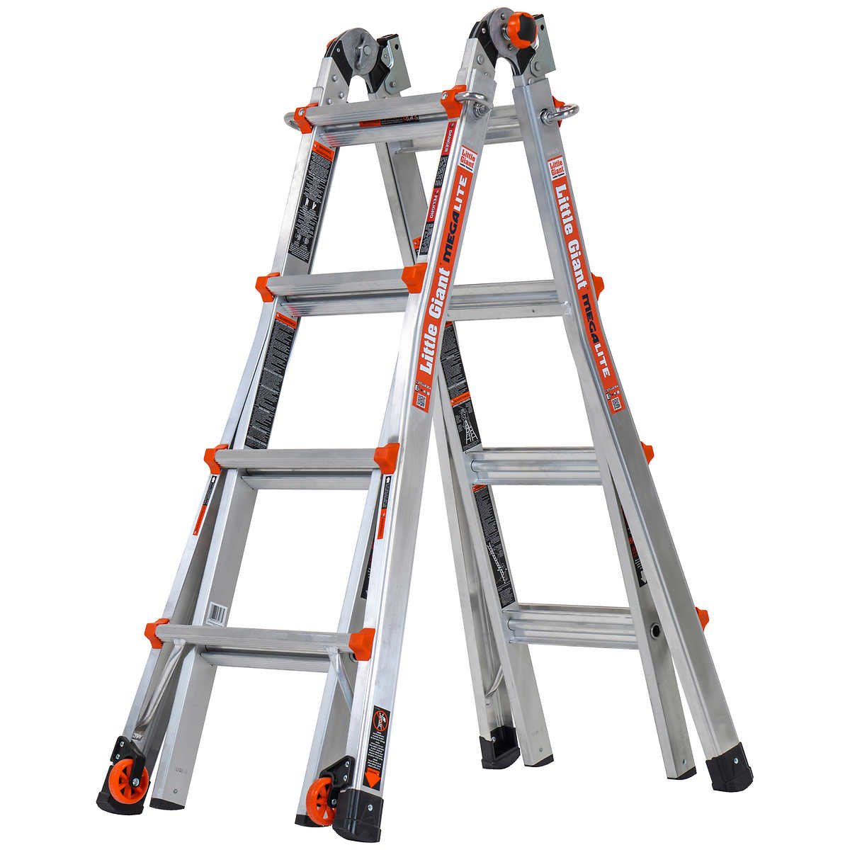 Little Giant Megalite 17 Ladder With Tip Glide Wheels