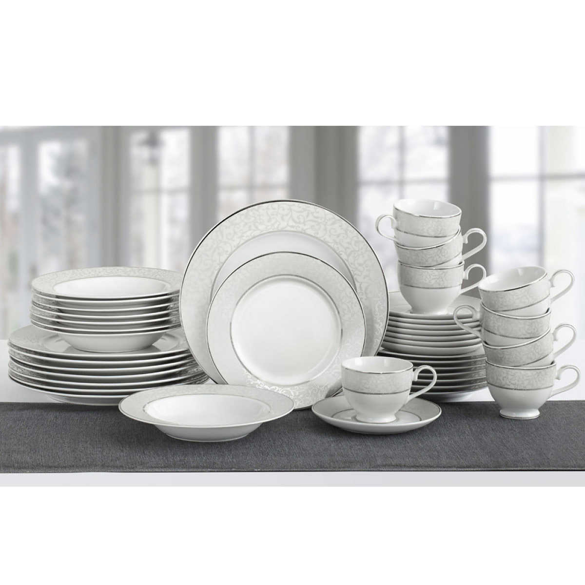 Mikasa Parchment 6-piece Porcelain Dinnerware Set