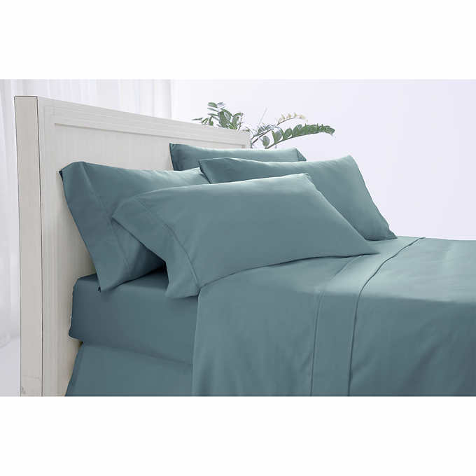 """White Double Sheet Set Egyptian Cotton 400TC Flat 12/"""" Deep Fitted P//cases"""