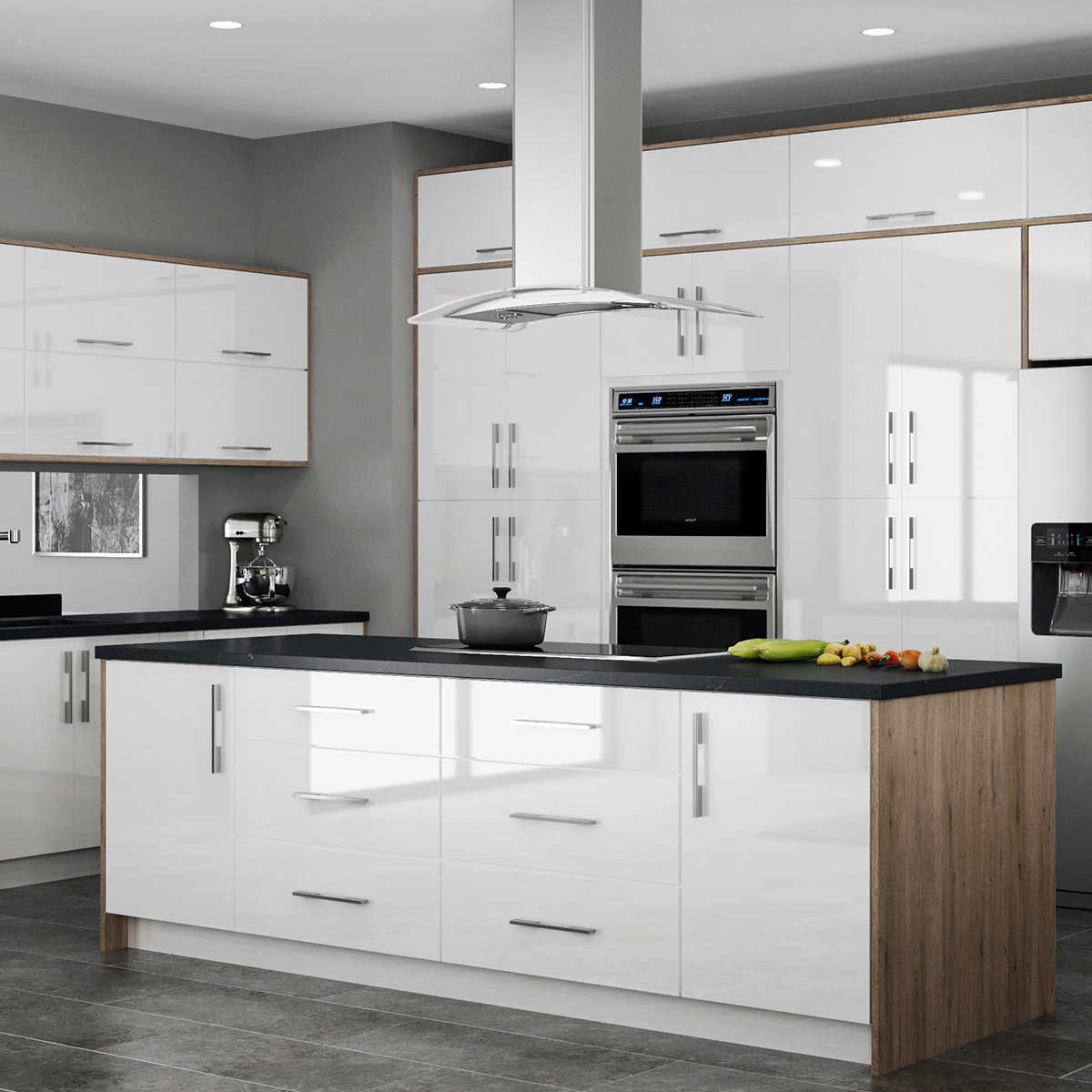 Metropolitan Kitchen and Bath Cabinets by All Wood Cabinetry