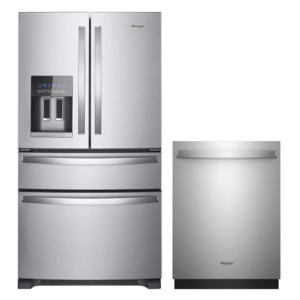 Whirlpool 2-piece 25CuFt French Door Kitchen Package in ...