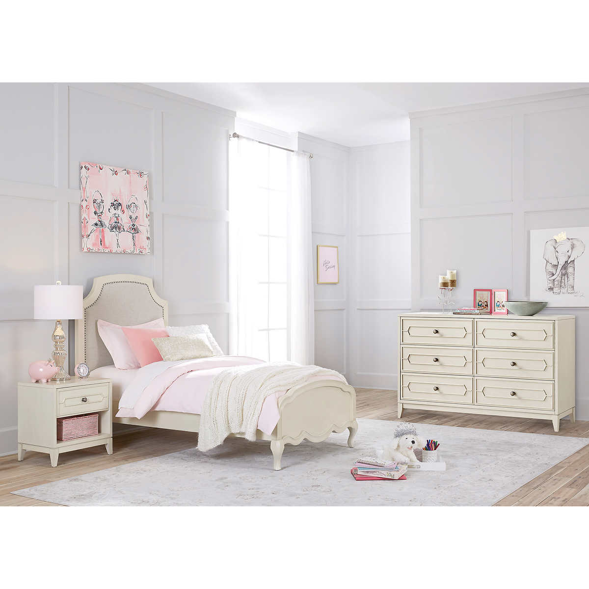 Isabella 9-piece Twin Bedroom Set with Dresser