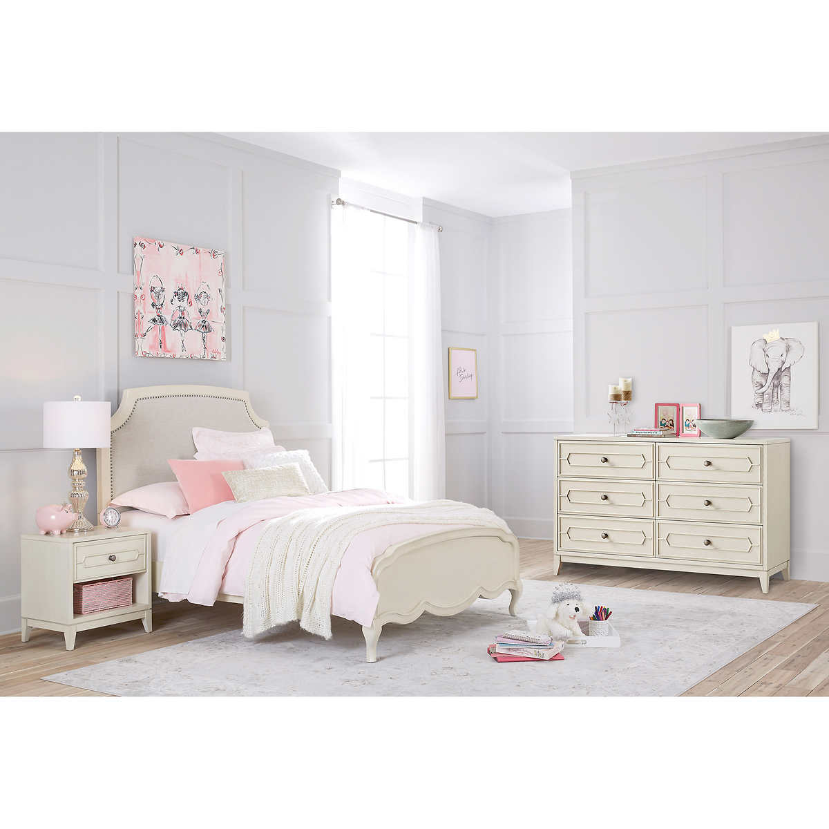 Isabella 3 Piece Full Bedroom Set With Dresser