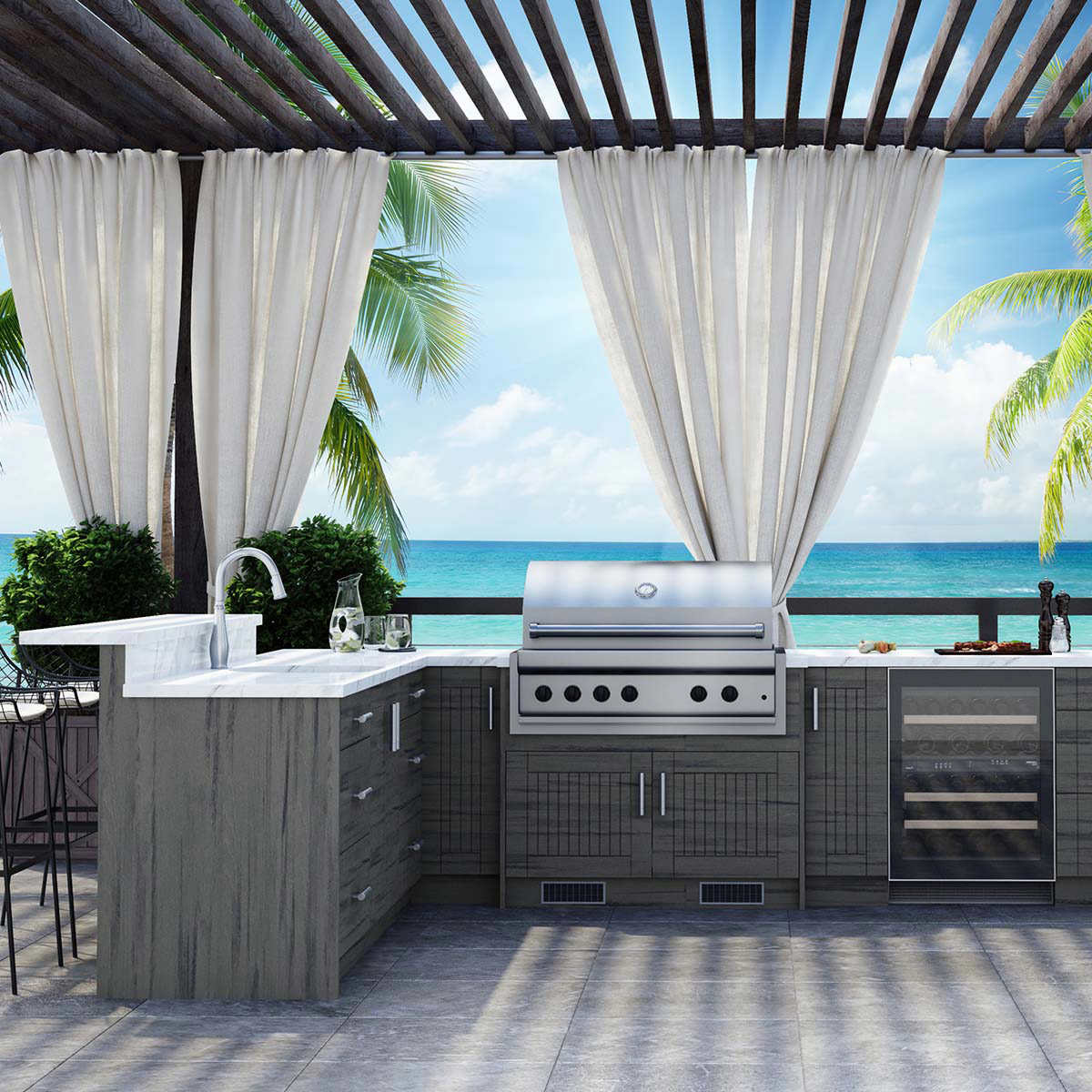 Custom Assembled Outdoor Cabinetry By Weatherstrong Costco