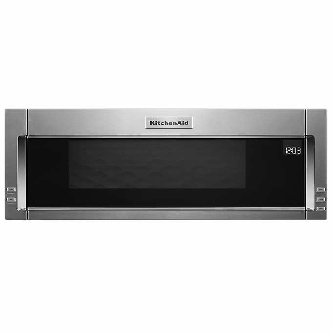 Kitchenaid 1 1cuft Low Profile Over The Range Microwave Hood Combination With Whisper Quiet Ventilation System