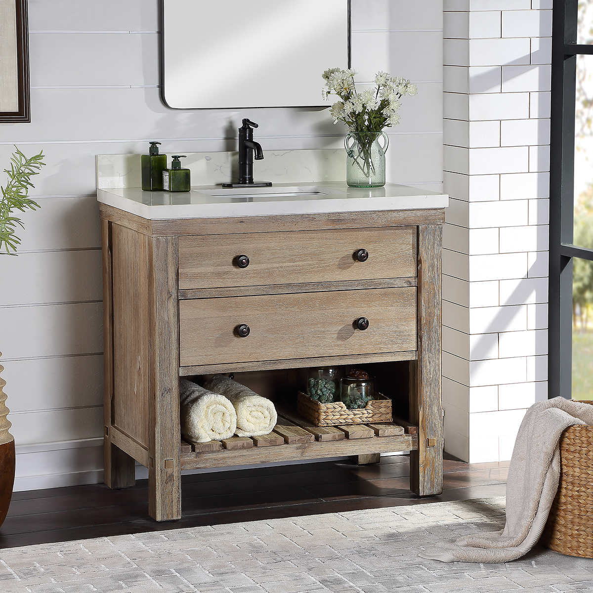 Elbe Rustic 36 Single Sink Vanity By Northridge Home