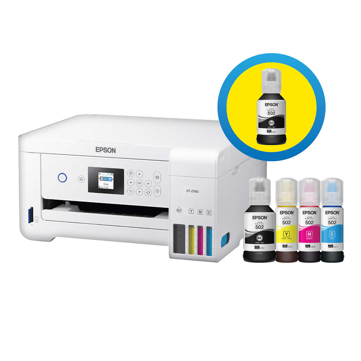 Epson Ecotank 2760 Special Edition All In One Printer With Bonus Black Ink