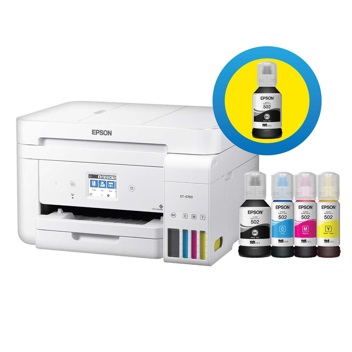 Epson Ecotank Et 4760 Special Edition All In One Wireless Supertank Printer With Bonus Black Ink