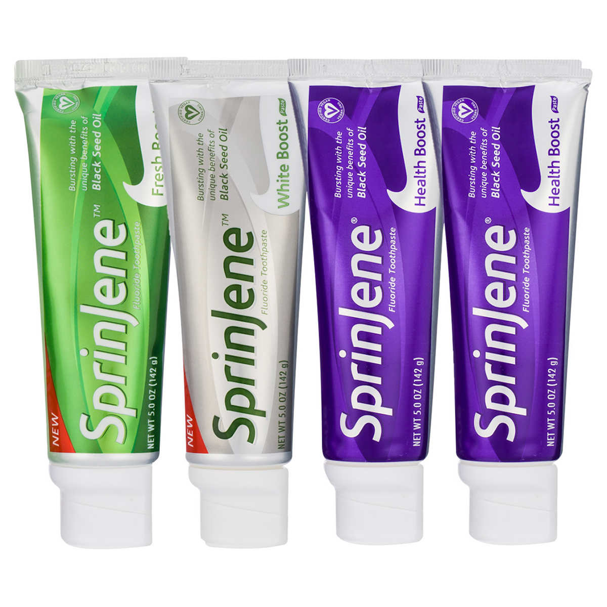 Sprinjene Natural Adult Toothpaste Combo 4 Pack