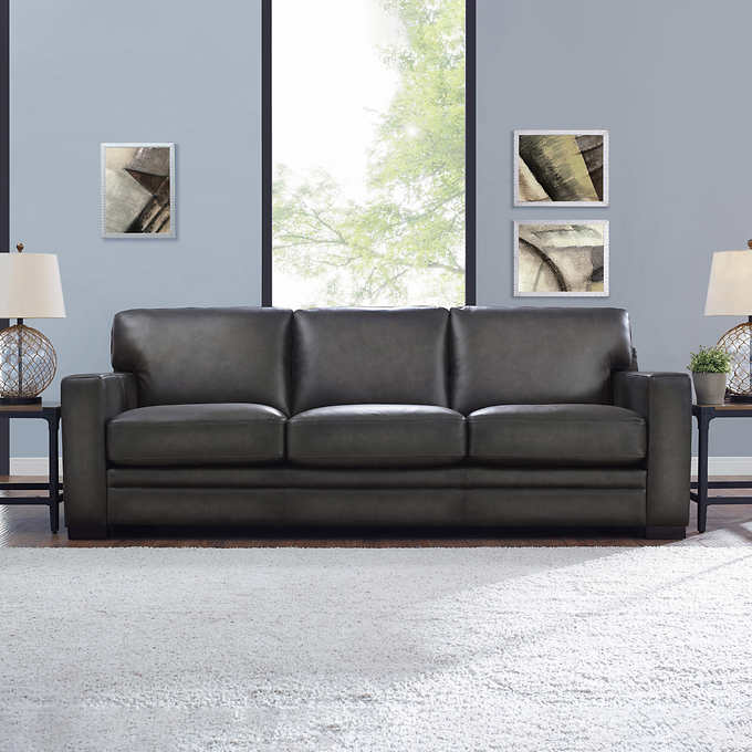 Luca Top Grain Leather Sofa Costco, Leather Loveseat And Sofa