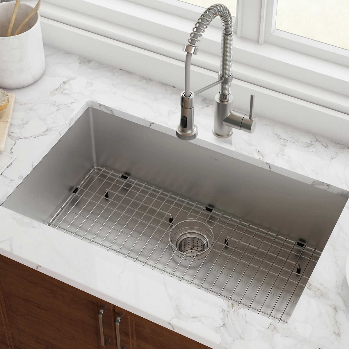 Kraus Single Bowl Stainless Steel Kitchen Sink