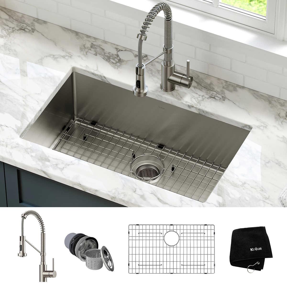 """Kraus 12"""" Kitchen Sink Combo"""