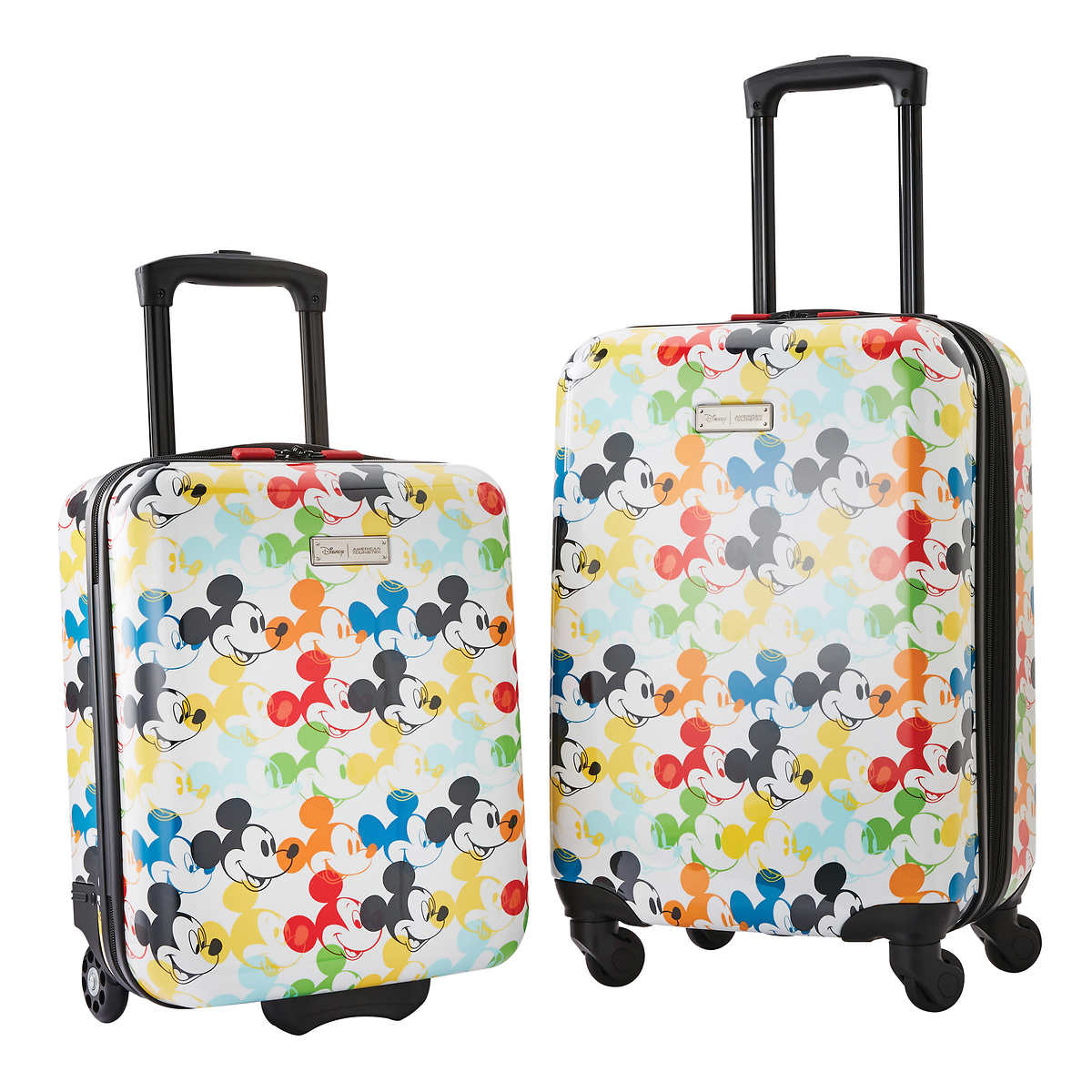 American Tourister Disney 2 Piece Hardside Carry On Luggage Set Mickey Mouse