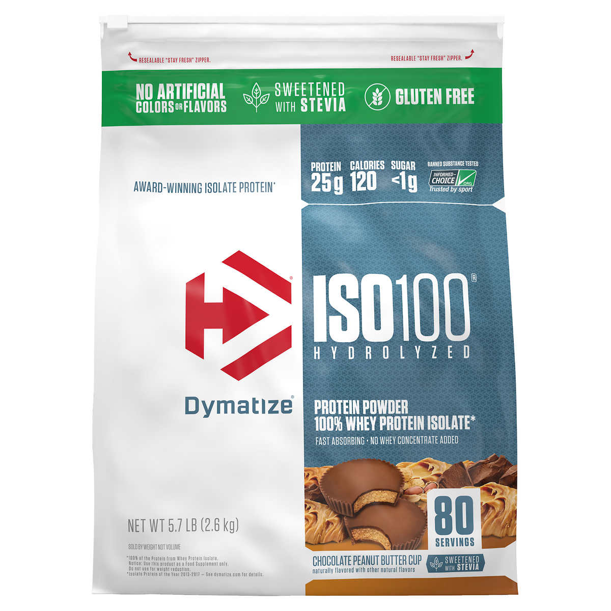 Dymatize Iso100 Hydrolyzed 100 Whey Protein Isolate Powder 80 Servings