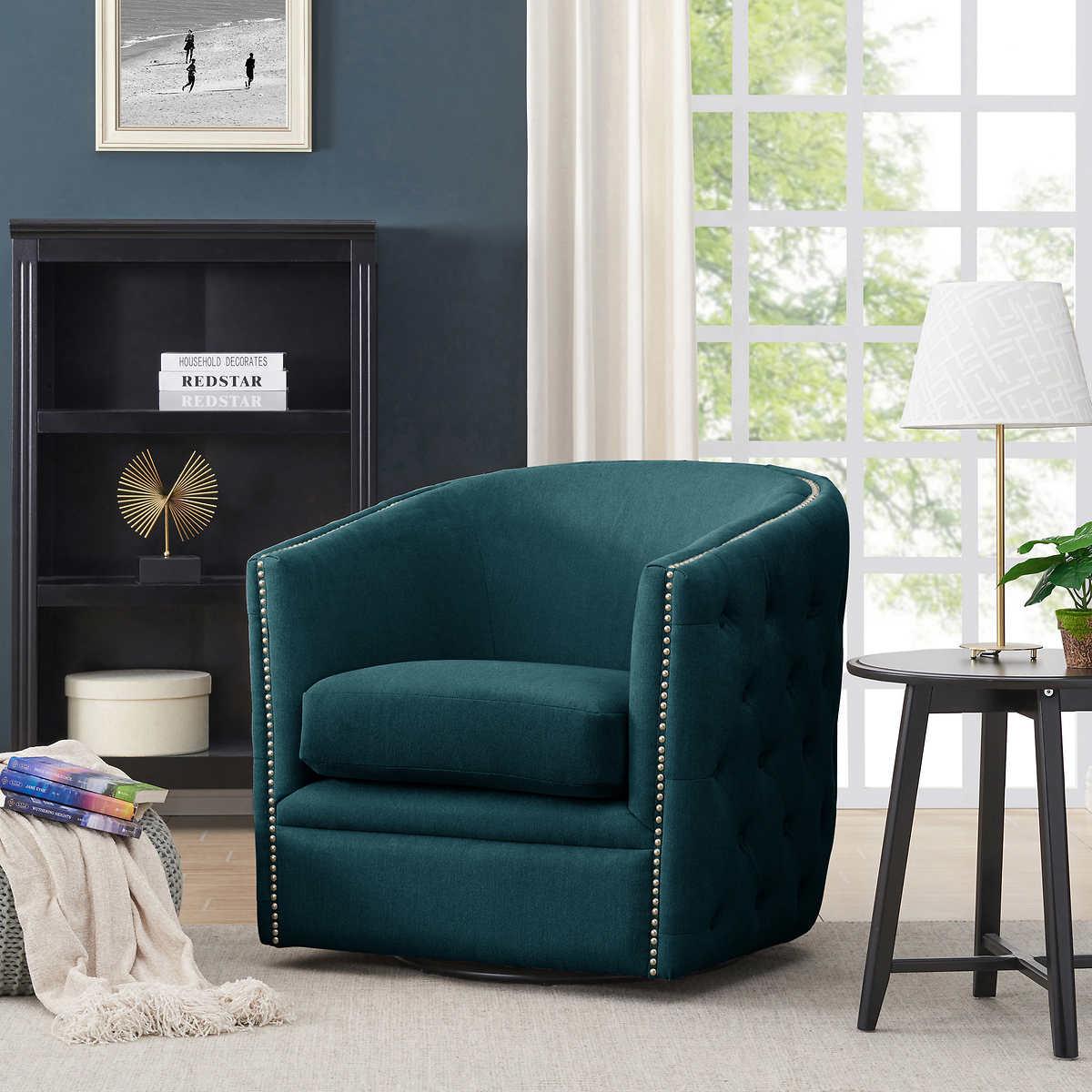 Lazarus Swivel Barrel Chair