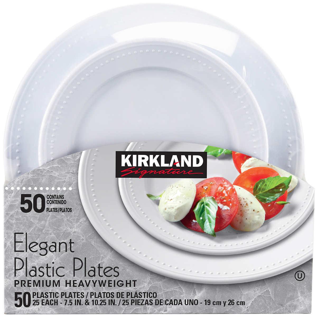 Kirkland Signature Elegant Plastic Plates 50 Count