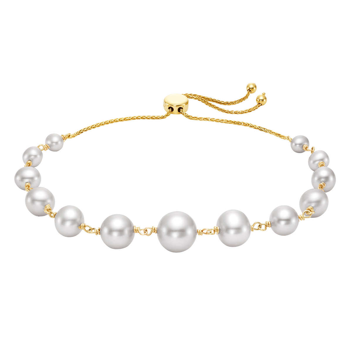 Pearl Necklace 50 Inches 3-8mm Coffee Graduated Freshwater Pearl Necklace