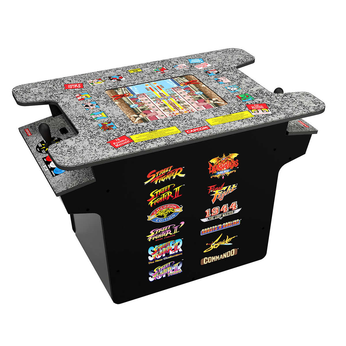 Arcade1up Street Fighter Deluxe 12 In 1 Arcade Game Table