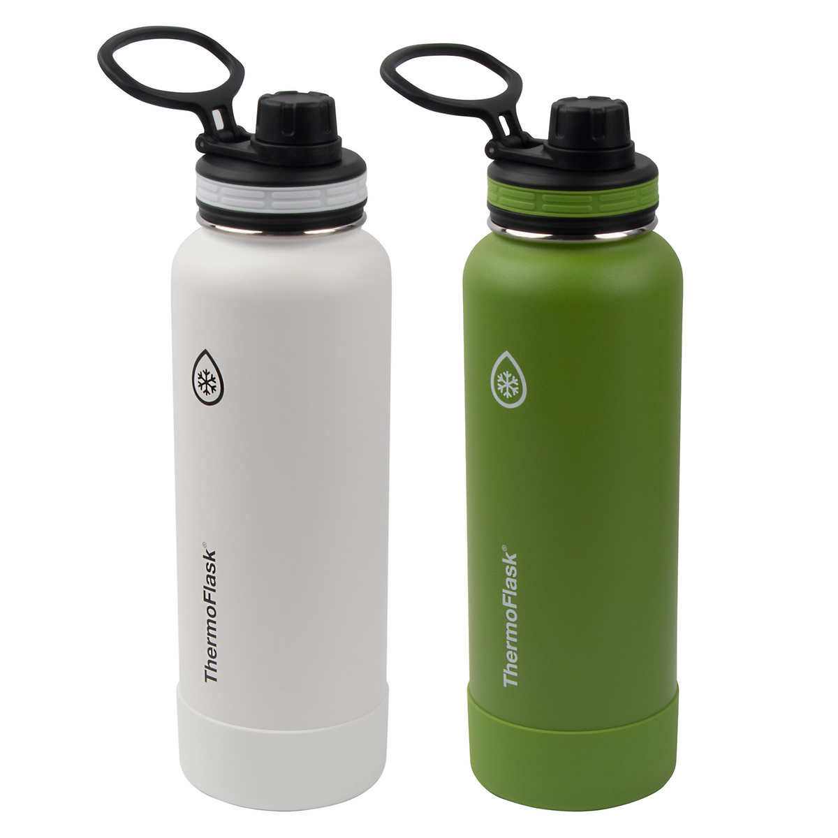 Wide Mouth Stainless Steel Sports Water Bottle With Clip 25 oz 2 Pack