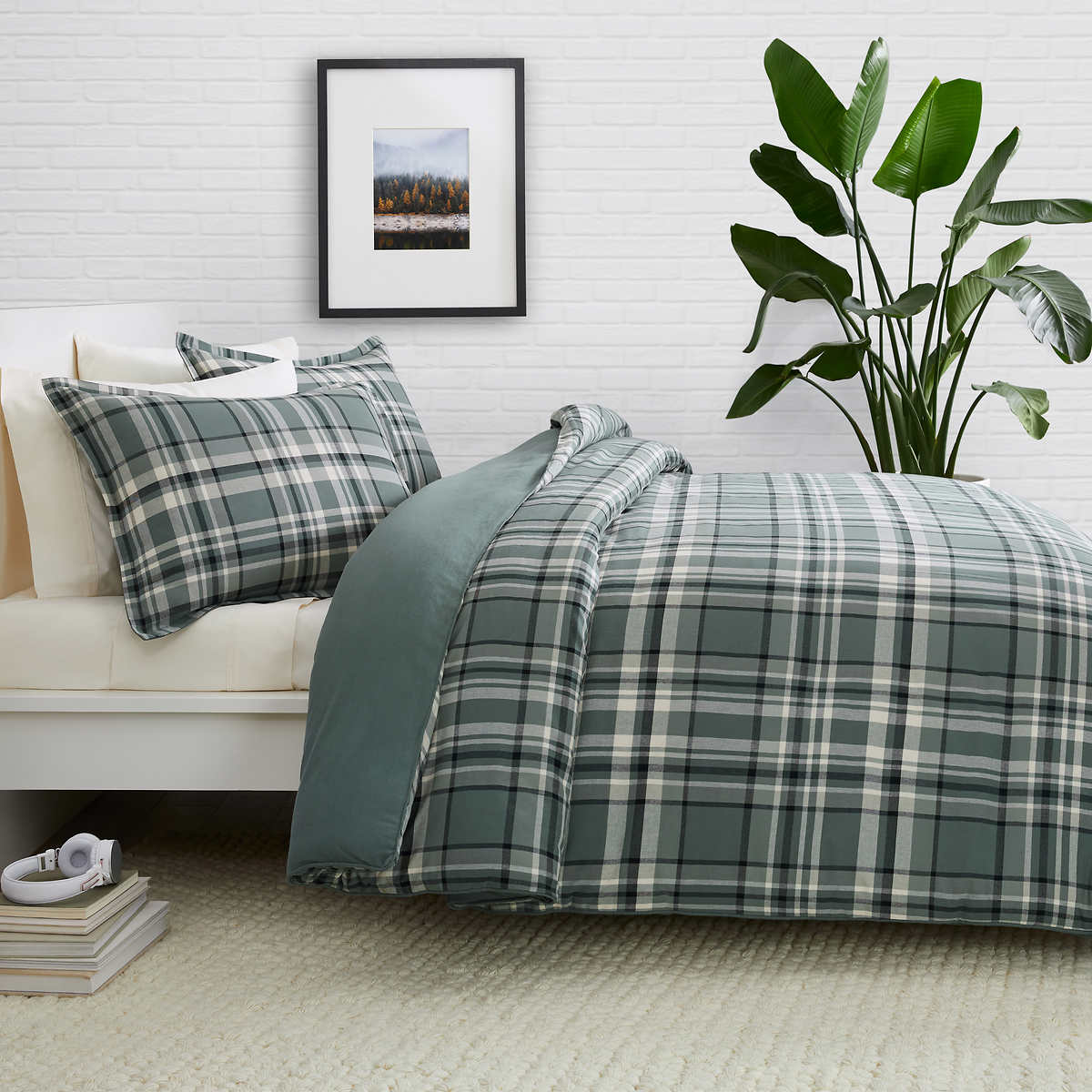 White Welhome Aidan Washed Quilt Full //Queen